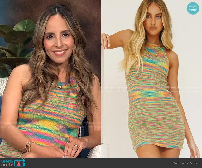 On The Horizon Knit Mini Dress by Verge Girl worn by Lilliana Vazquez  on E! News