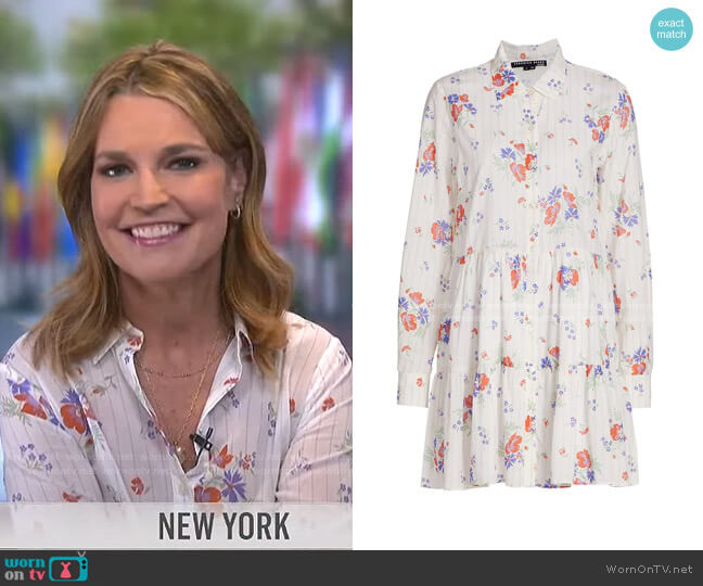 Jemila Shirtdress by Veronica Beard worn by Savannah Guthrie  on Today