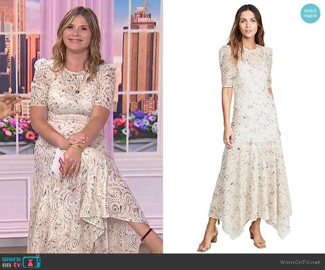 Balsam Dress by Veronica Beard worn by Jenna Bush Hager  on Today