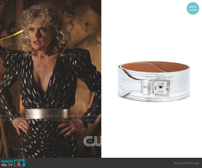 Kiara Belt by Veronica Beard worn by Alexis Carrington (Elaine Hendrix) on Dynasty