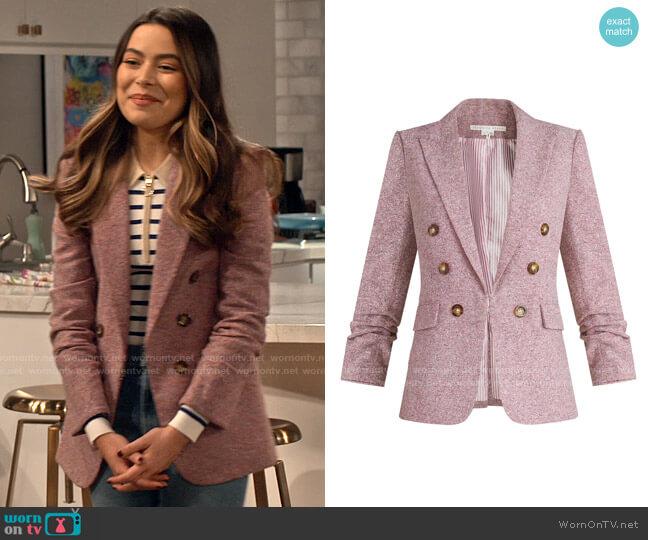 Veronica Beard Beacon Dickey Jacket worn by Carly Shay (Miranda Cosgrove) on iCarly