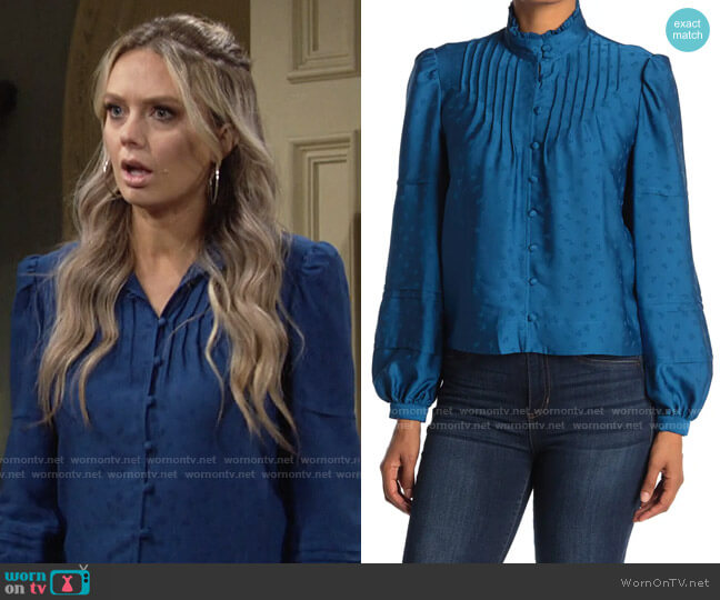 Veronica Beard Rylee Top worn by Abby Newman (Melissa Ordway) on The Young & the Restless
