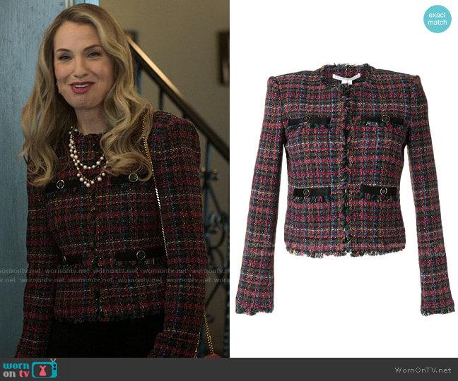 Veronica Beard Nerva Jacket worn by Georgina Meriwether (Leslie Grossman) on Love Victor