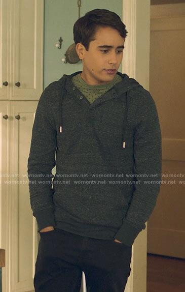 Victor's grey henley hoodie on Love Victor