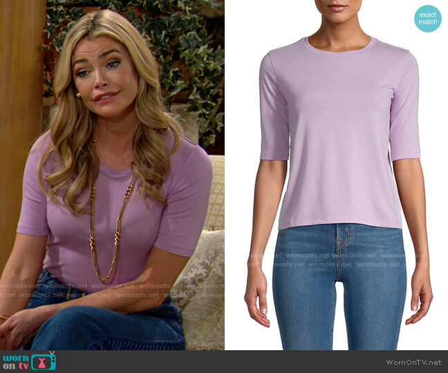 Vince Crewneck Short-Sleeves Tee worn by Shauna Fulton (Denise Richards) on The Bold & the Beautiful