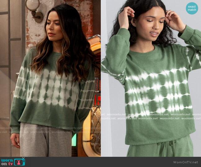 Vince Camuto Tie Dye Sweatshirt worn by Carly Shay (Miranda Cosgrove) on iCarly