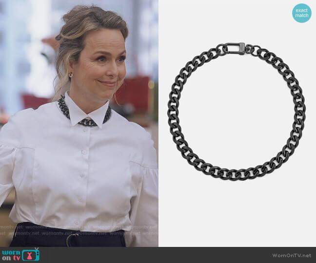 Transit Necklace by Vitaly worn by Jacqueline (Melora Hardin) on The Bold Type