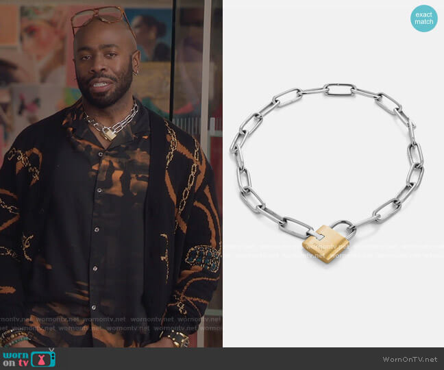 Tespass Necklace by Vitaly worn by Stephen Conrad Moore on The Bold Type