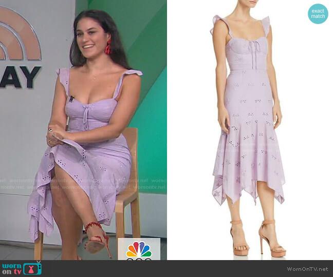 Novara Dress by Wayf worn by Donna Farizan  on Today