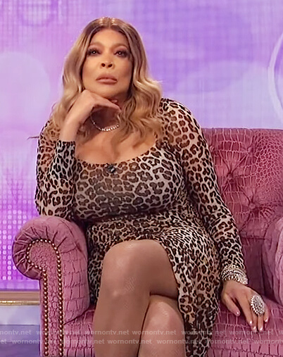 Wendy's leopard print dress on The Wendy Williams Show