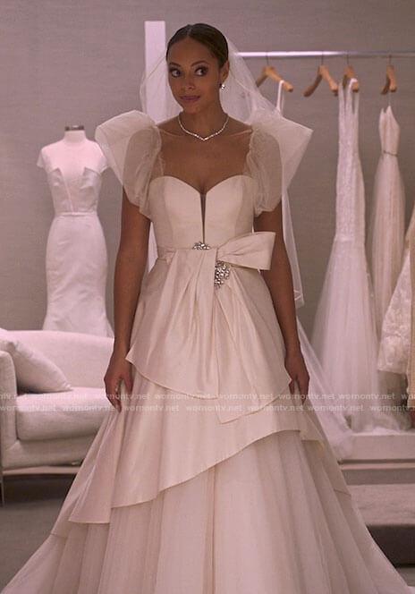Whitney's wedding dress on Run the World