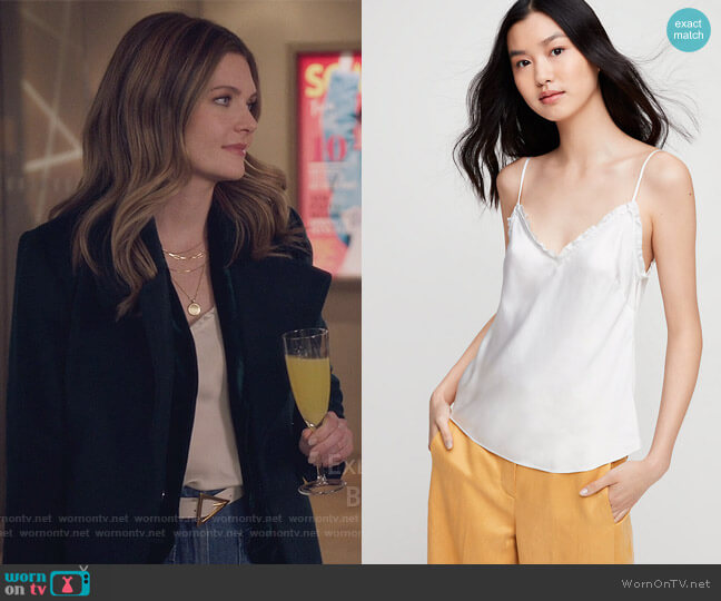 Ruffle Camisole by Aritzia worn by Sutton (Meghann Fahy) on The Bold Type