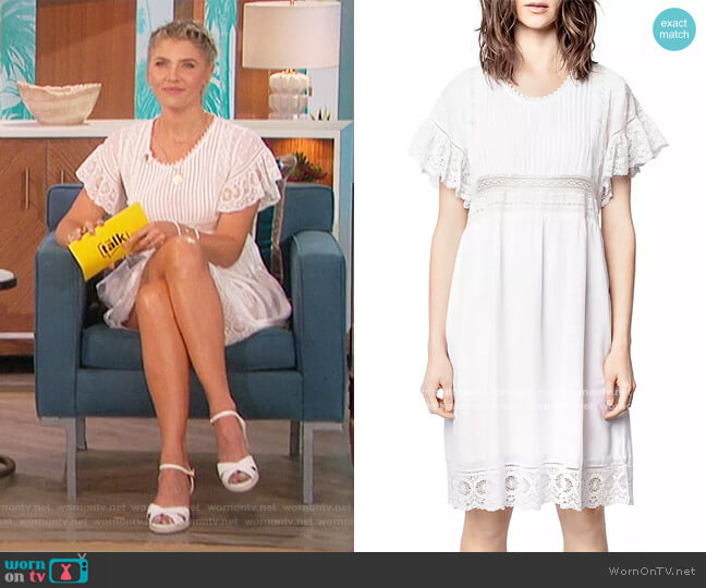Lace Trimmed High Waist Dress by Zadig & Voltaire worn by Amanda Kloots  on The Talk