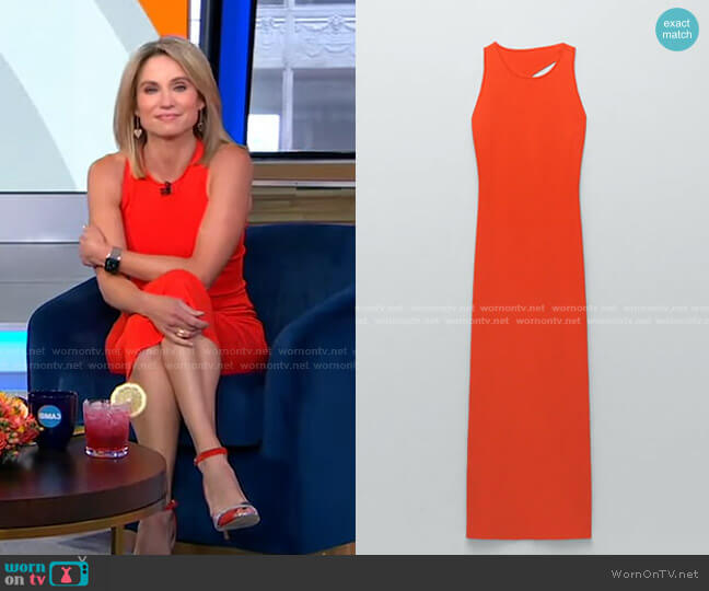 Cut Out Knit Dress by Zara worn by Amy Robach  on Good Morning America