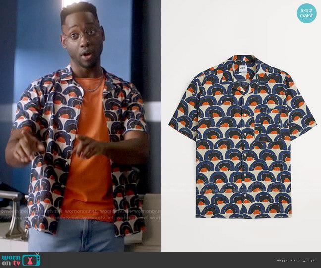 Zara Geometric Print Shirt worn by Chester Phineas Runk (Brandon McKnight) on The Flash