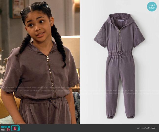 Zara Hooded Jumpsuit worn by Millicent (Jaidyn Triplett) on iCarly