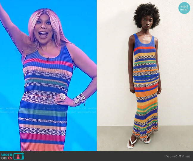 Knit Top and Knit Skirt by Zara worn by Wendy Williams  on The Wendy Williams Show