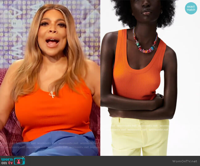 Ribbed Knit Top by Zara worn by Wendy Williams  on The Wendy Williams Show