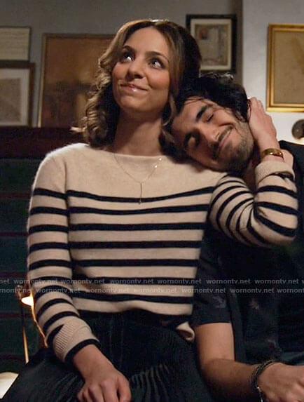 Zari's striped sweater on Legends of Tomorrow