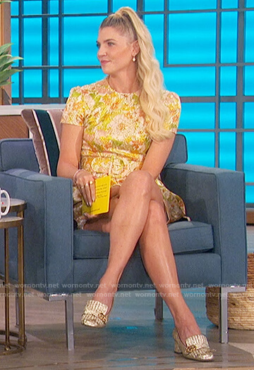 Amanda's floral belted dress on The Talk