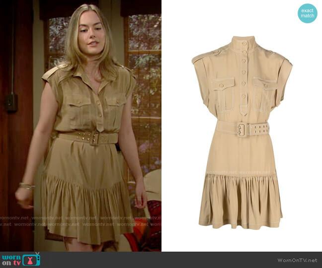 Zimmermann Utility Shirtdress worn by Hope Logan (Annika Noelle) on The Bold & the Beautiful