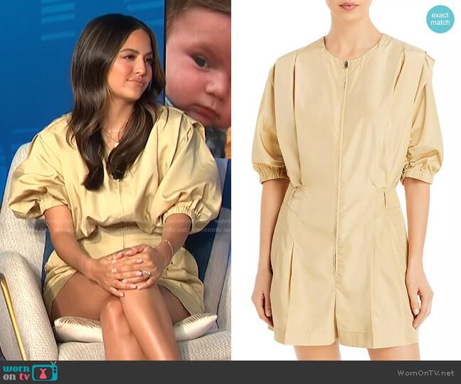 Puff Sleeve Taffeta Romper by 3.1 Phillip Lim worn by Erin Lim  on E! News