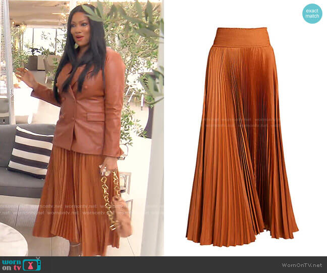 Demi Skirt by A.L.C. worn by Garcelle Beauvais  on The Real Housewives of Beverly Hills