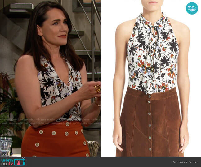 ALC Steele Top worn by Quinn Fuller (Rena Sofer) on The Bold & the Beautiful