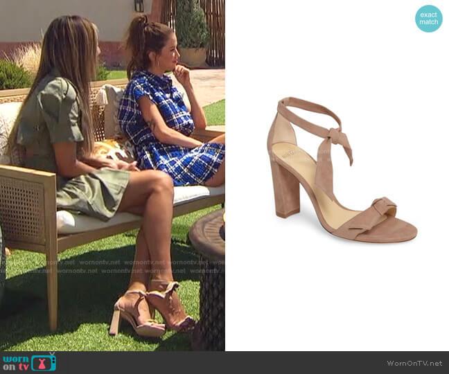 Clarita Knotted Sandal by Alexandre Birman worn by Tayshia Adams  on The Bachelorette