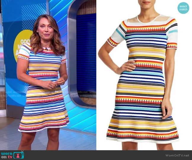 Adena Dress by Shoshanna worn by Ginger Zee  on Good Morning America