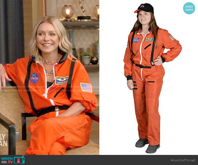 Astronaut Suit by Aeromax worn by Kelly Ripa  on Live with Kelly & Ryan