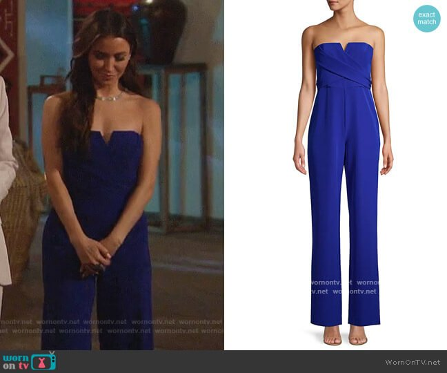Strapless Crepe Jumpsuit worn by Kaitlyn Bristowe on The Bachelorette worn by Kaitlyn Bristowe  on The Bachelorette