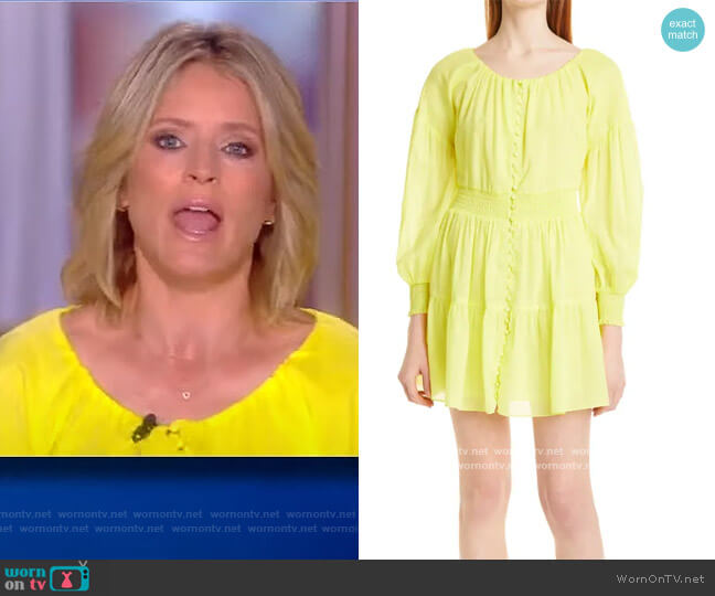 Kiara Puff-Sleeve Mini Dress by Alice + Olivia worn by Sara Haines  on The View