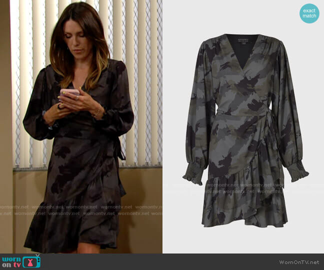 All Saints Fina Tranquil Dress worn by Chloe Mitchell (Elizabeth Hendrickson) on The Young & the Restless