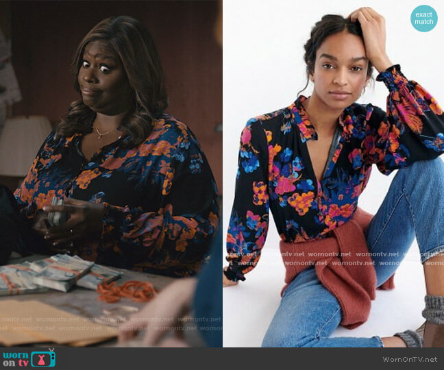 Colette Blouse by Anthropologie worn by Ruby Hill (Retta) on Good Girls