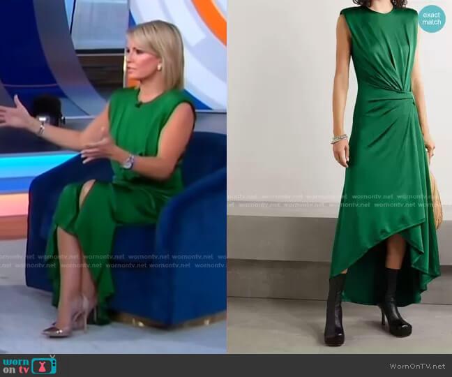 Asymmetric Gathered Stretch-Jersey Midi Dress by Monse worn by Dr. Jennifer Ashton  on Good Morning America