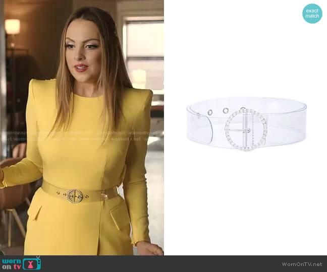 See-Through Belt by B-Low worn by Fallon Carrington (Elizabeth Gillies) on Dynasty