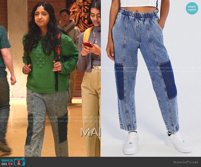 Sandy High Waisted Jogger Jeans by BDG worn by Devi Vishwakumar (Maitreyi Ramakrishnan) on Never Have I Ever
