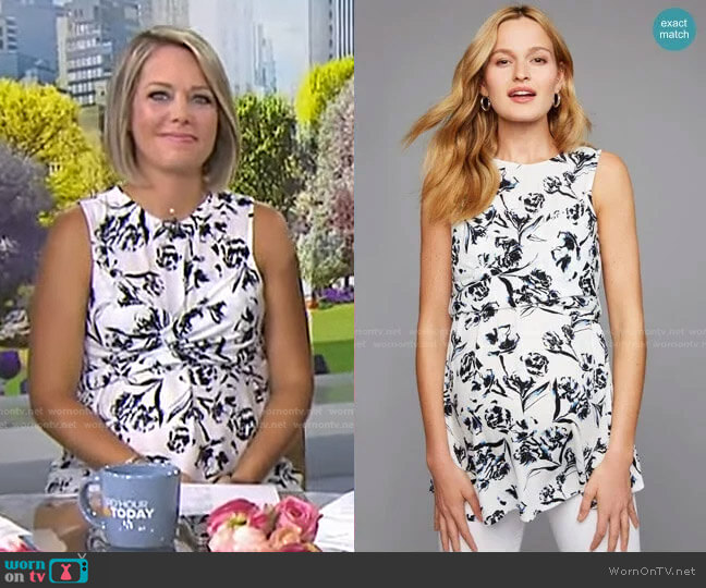 Babydoll Maternity Tank Top by A Pea in the Pod worn by Dylan Dreyer  on Today