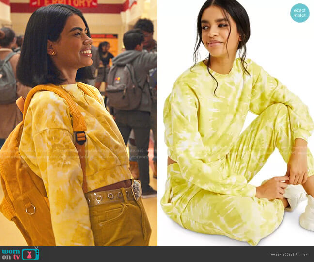 CULPOS X INC Tie-Dye Sweatshirt by INC International Concepts worn by Megan Suri on Never Have I Ever