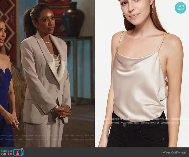 Busy Cami Oat by CamiNYC worn by Tayshia Adams  on The Bachelorette