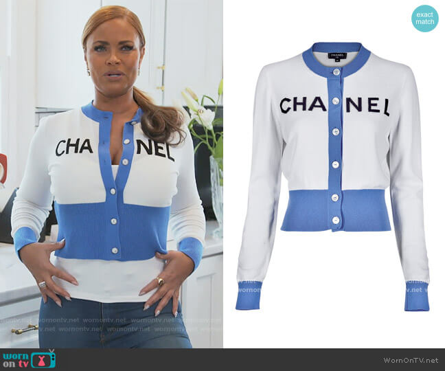 Cardigan by Chanel worn by Gizelle Bryant  on The Real Housewives of Potomac