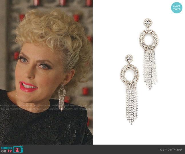 Margaret Earrings by Deepa Gurnani  worn by Alexis Carrington (Elaine Hendrix) on Dynasty
