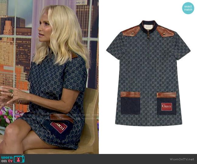 Eco-Washed Organic Denim Dress by Gucci worn by Kristin Chenoweth on Today
