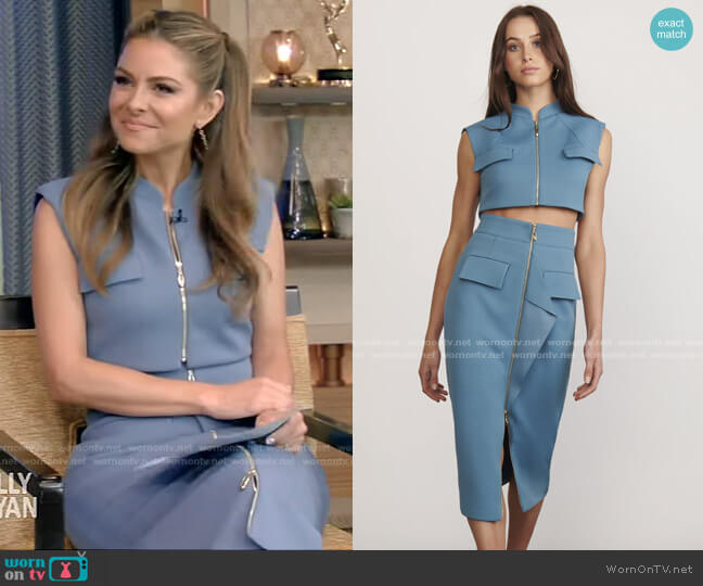 Voyage Top Skirt by Elliatt worn by Maria Menounos on Live with Kelly and Ryan