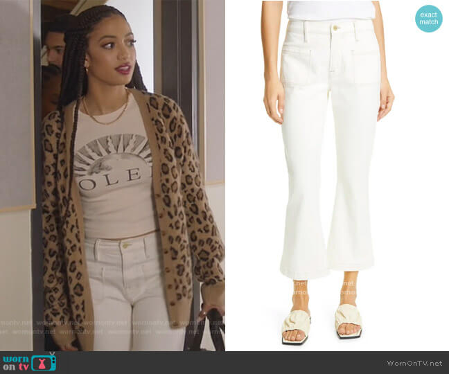 Le Bardot Crop Flare Jeans by Frame worn by Olivia Baker (Samantha Logan) on All American