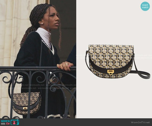 Gancini Cross Body Bag by Salvatore Ferragamo worn by Monet de Haan (Savannah Lee Smith) on Gossip Girl