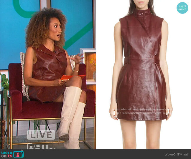 Da Paolino Garden Dress by Michael Fausto worn by Elaine Welteroth  on The Talk