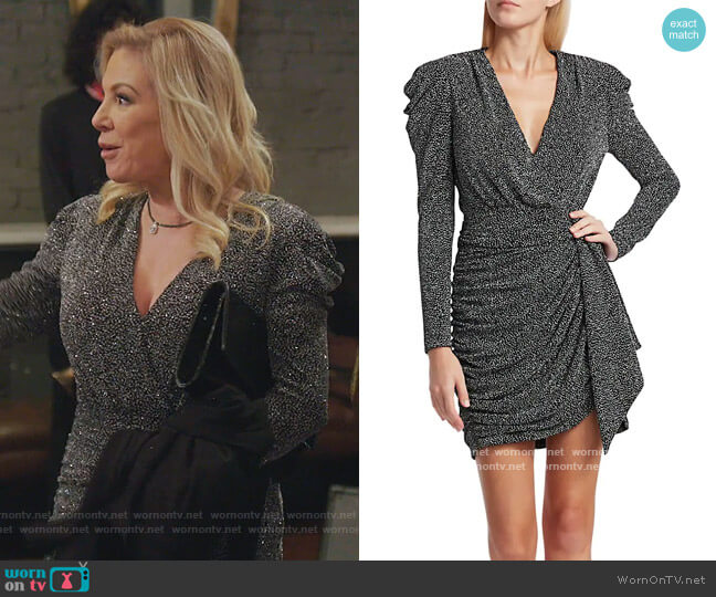 Glitter Jersey Mini Dress by Jonathan Simkhai worn by Ramona Singer  on The Real Housewives of New York City