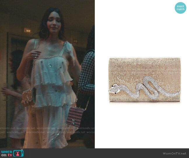 Serpent Crystal Clutch by Judith Leiber worn by Luna La (Zión Moreno) on Gossip Girl